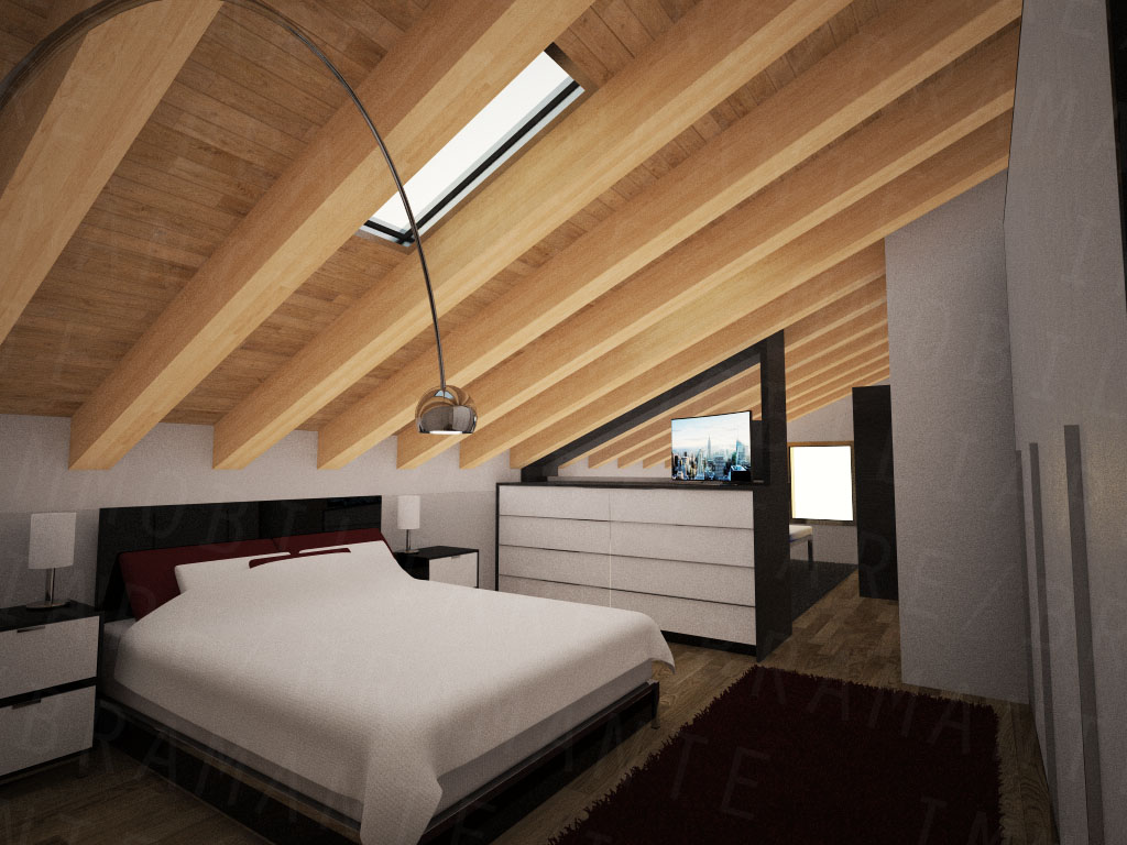 Stunning camera da letto sottotetto pictures house for Camera da letto in mansarda